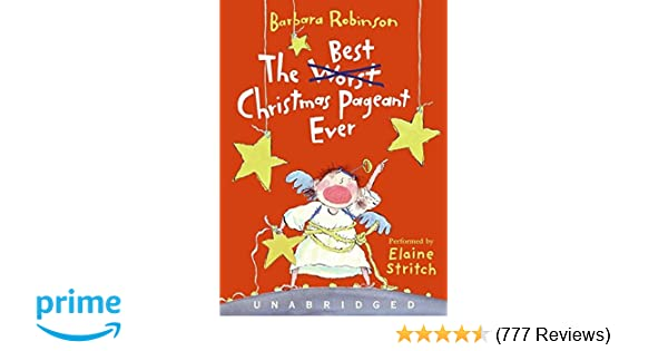 the best christmas pageant ever cd barbara robinson elaine stritch 9780061215223 amazoncom books - Best Christmas Pageant Ever Play