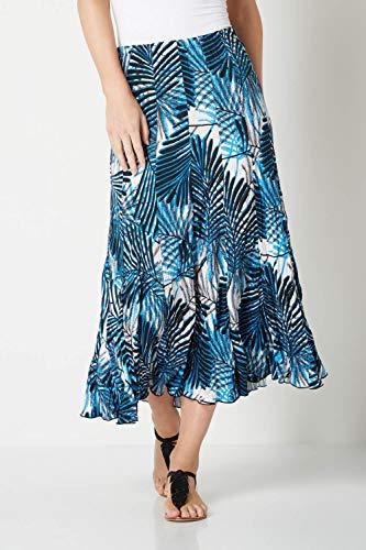 Vacances Léger Tropical Turquoise Floral Croisière Bohème Ete Long Femme Roman Elastique Jupe Maxi Originals Printemps xwagvqp