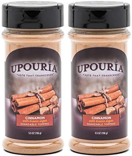 Sugar Topping Muffins - Upouria Cinnamon Sugar Shakeable Hot Cocoa and Coffee Topping 5.5 Ounce - (Pack of 2)
