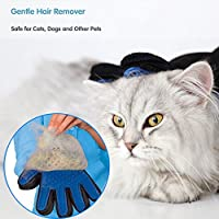 Pet Grooming Glove for dogs& cats 2-in-1 Gentle and Efficient Deshedding Massage Brush Hair Remover Glove for all pets!