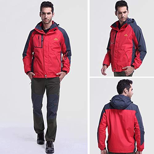 Spesso Strato Per Inverno Caldo Manica Pile In Zip Cappuccio Prega Rosso 3 Taglie Outwear Controllare Jerkins Di Esailq Vento Tabella In Uomini Terza Mens La Si Immagine Lunga Con 8qZdqzw