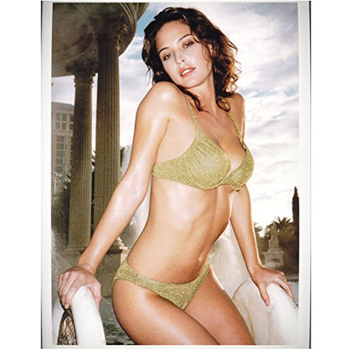 Josie Maran 8 Inch x10 Inch Photograph Van Helsing The Aviator Need for Speed: Most Wanted Wearing Gold Bikini - Wearing Aviators Celebrities