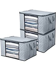 BoxLegend Clothes Storage Bags Large Capacity Organizer with Reinforced Handle Thick Fabric Large Clear Window