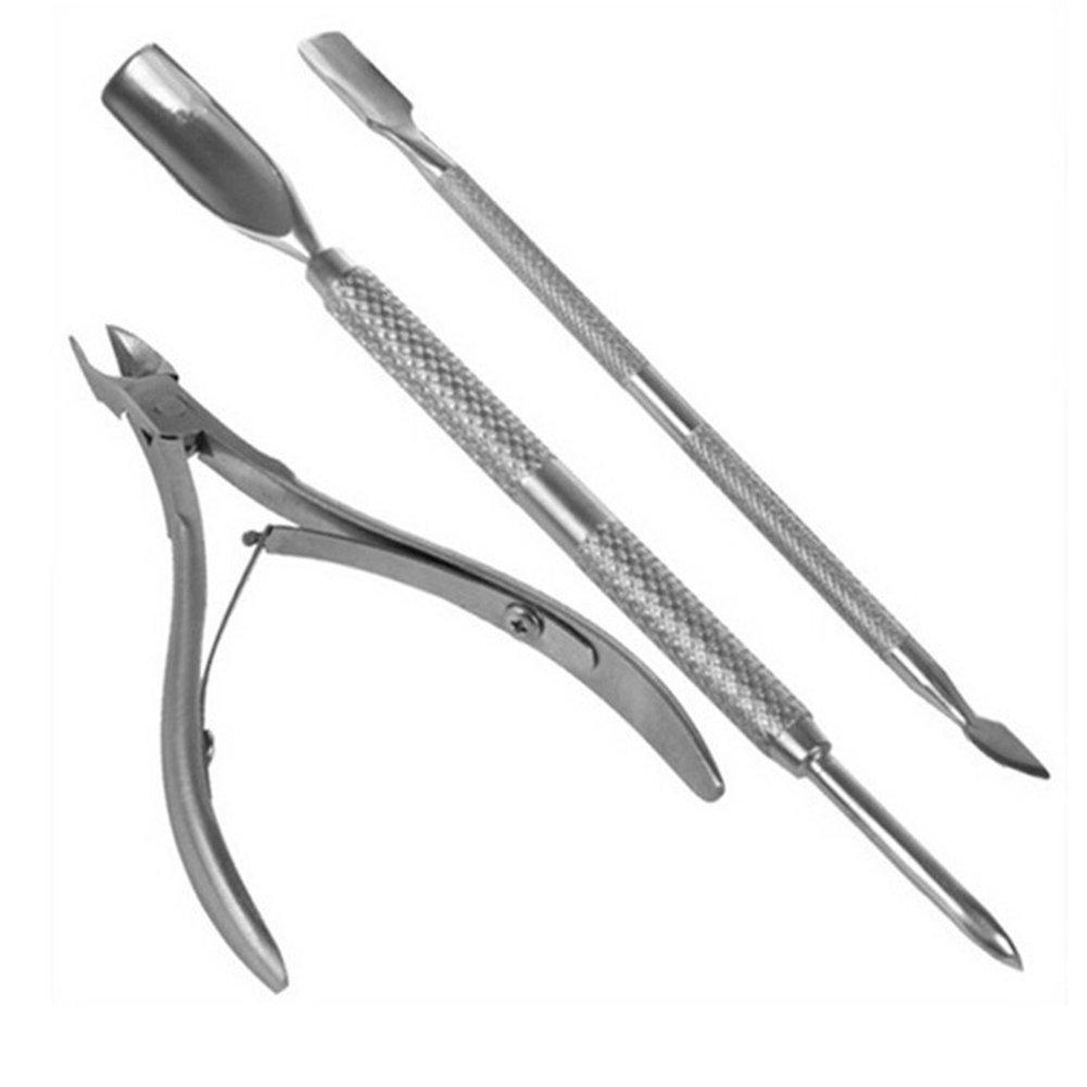 Gespout 3pcs Nails Pince à Cuticules Soins des Cuticules Métallique Toilettage des Ongles