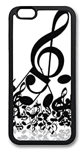 iPhone 6 Case and Cover Black Music Notes TPU Silicone Rubber Case Cover for iPhone 6 Black