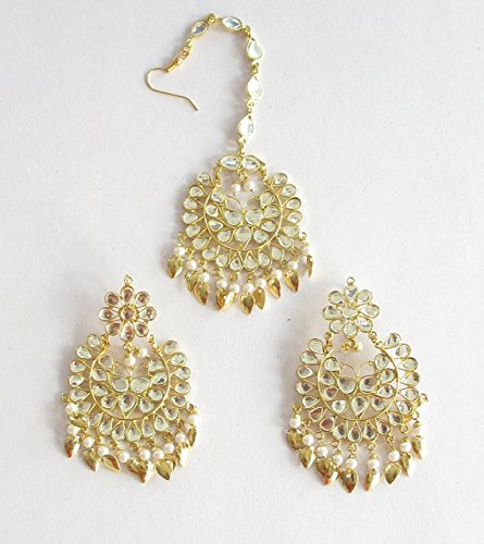 gold-kundan-embedded-white-beads-earrings-tikka-indian-bollywood-bridal-wedding-earrings-punjabi-mug