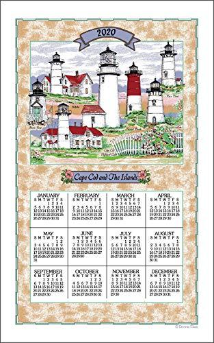 Kaydee F3291 Lighthouses of Cape Cod Linen Calendar Towel