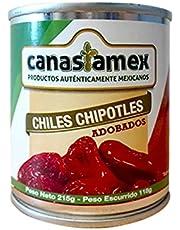 CHILE CHIPOTLE ADOBADO 215g - CANASTAMEX