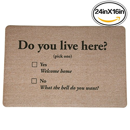 Live Here Door Mat - 4