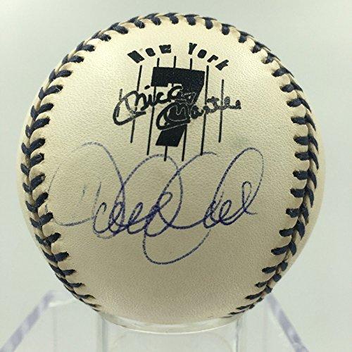 Rare Derek Jeter Signed Mickey Mantle Day Commemorative B...