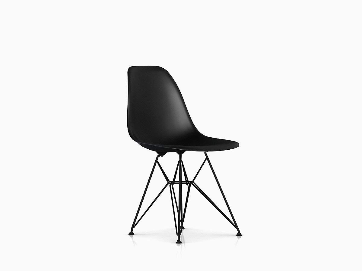 Herman Miller Eames Molded Plastic Dining Chair, Shell Black Base
