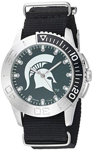 Game Time Men's 'Starter'  Metal and Nylon Quartz Analog  Watch, Color:Black (Model: COL-STA-MSU) ()