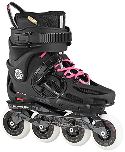 Rollerblade Women's Twister 80 Urban Skate 2015, Black/80s Pink, US 7.5