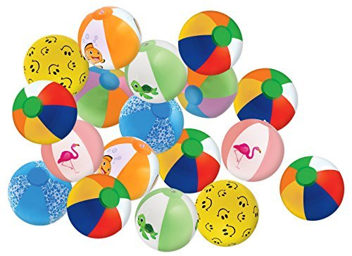 Kangaroos 8 Beach Balls, (25-Pack); Summer Birthday Party