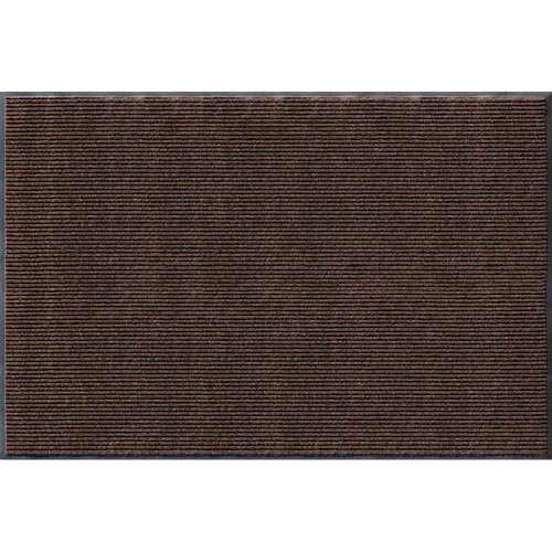 Rib Commercial Carpeted Indoor and Outdoor Floor Mat, Cocoa Brown, 4-feet by 6-Feet