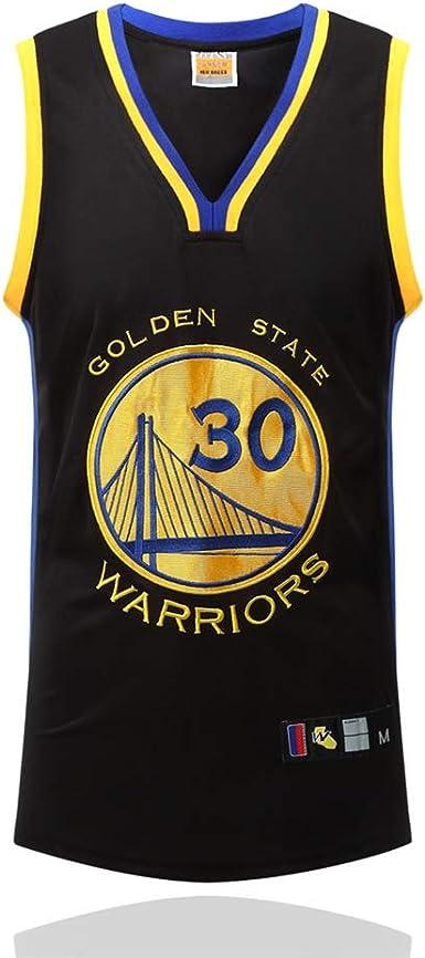 HUWAI Baloncesto Jersey NBA Stephen Curry Hombres Deportes Al Aire Libre Retro Entrenamiento Retro Cofre Bordado Negro: Amazon.es: Ropa y accesorios