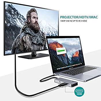 USB C Hub 7-in-1 USB Type C Hub USB C Adapter with USB C Charging Port, 4K HDMI Output, USB 3.0/USB 2.0 Port, PD Charging, Micro n SD Reader for Windows,Mac Book,Apple,Samsung and Other Devices