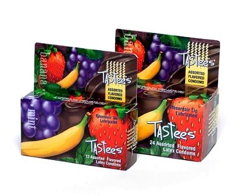 Trustex Flavored 12 Pack -- Assorted - Trustex Chocolate Flavored Condoms