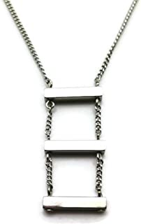 product image for a. v. max NYC Silvertone Short Bar Ladder Style Fashion Chain Necklace 18-20