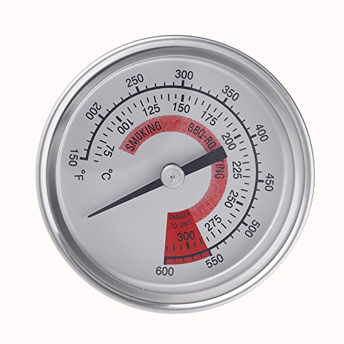 - Grill Thermometer with Dual Gage Grill Temperature Gauge for BBQ Barbecue Charcoal Grill Pit, 2.25