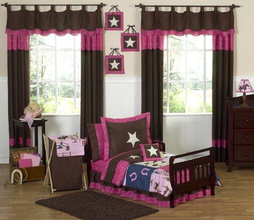Sweet Jojo Designs Western Horse Cowgirl Bed Skirt for Toddler Bedding Sets