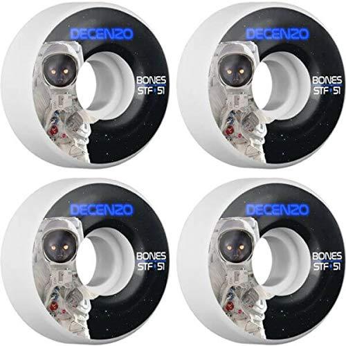 怠マーキー抵抗Bones Wheels Ryan Decenzo STF Catstronautスケートボードホイール – 51 mm 83b ( Set of 4 )