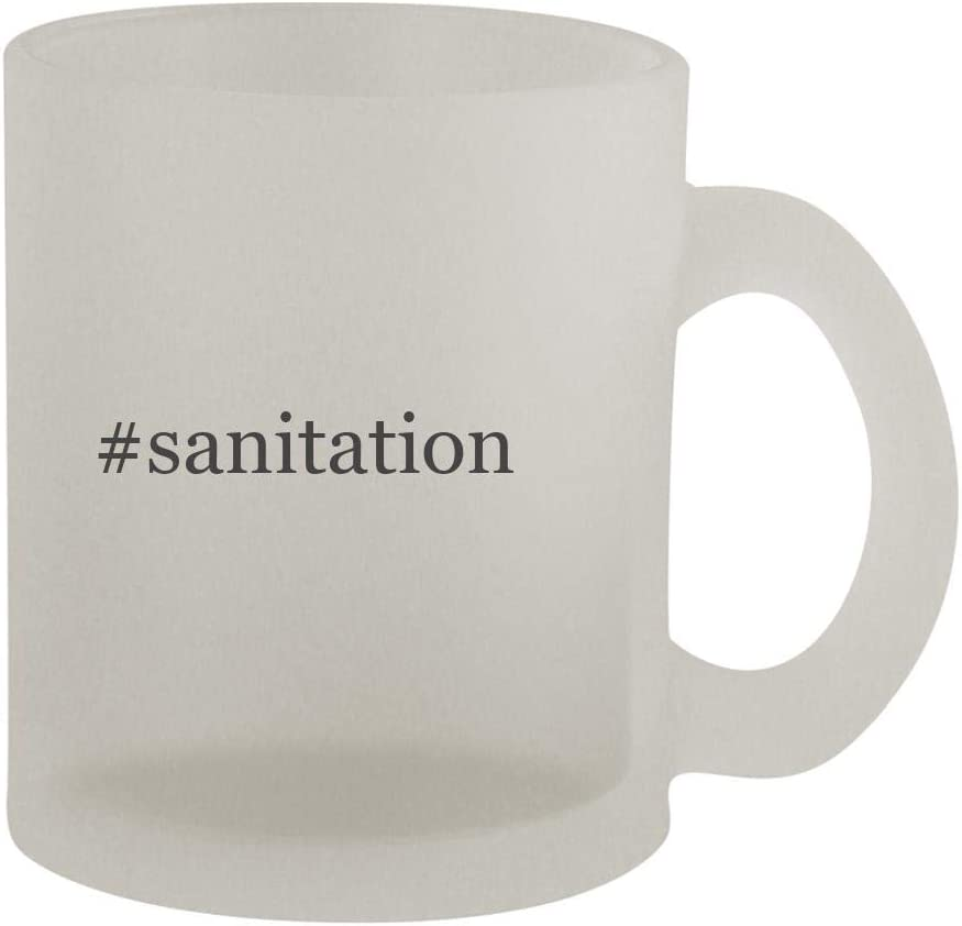 #sanitation - 10oz Hashtag Frosted Coffee Mug Cup, Frosted