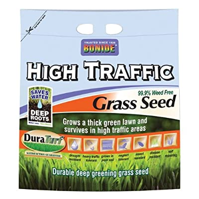 Bonide 60289 High Traffic Grass Seed, 50-Pound
