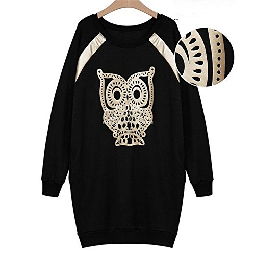 Eault Elegant Winter Dress Casual Loose Women Sweater Dress O-neck Elegant L-5xl Plus Size Sweater Above Knee With Character Black5XL - And Cheap Gabbana Dolce Clothes