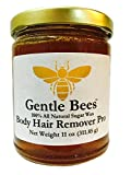 Hair Removal With Sugar Paste - Gentle Bees Body Hair Remover Pro, All Natural Sugar Wax Kit 11 Ounces