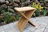 Paradise Teak Wood Folding Shower Seat, Bench, Stool - Bath, Sauna Seating