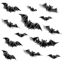 Black 3D PVC Bat Wall Decals Glow In The Dark Bat Window Stickers For Art Wallpaper Home Decoration Supplies by GOCROWN