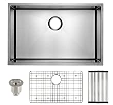 "Frigidaire Undermount Stainless Steel Kitchen Sink, 10mm Radius Corners, 16 Gauge, Deep Basin, 29"" (19"", 23"", 27"", 29"", 32"" models)"