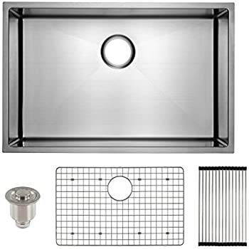 Frigidaire Undermount Stainless Steel Kitchen Sink, 10mm Radius Corners, 16  Gauge, Deep Basin
