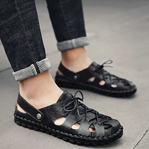 de Black DHFUD Summer Plage Hommes Chaussures Chaussures pour Creuses Sandales qqtUg