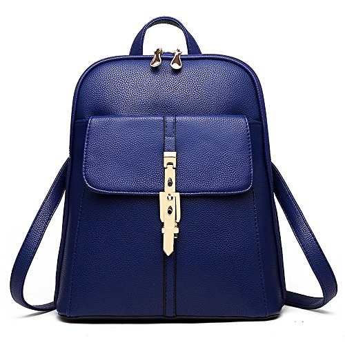 Satchel Travel Bag School Navyblue Shoulders Myleas Rucksack Backpack Leather Mini Women's Bag Girl cUU7qPSY1