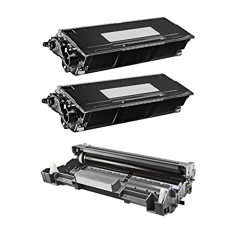 Compatible Brother DR-620 Drum Unit + 2 x TN-650 Toner Cartridges for Brother MFC 8480DN 8680DN 8890DW Brother HL 5340D 5370DW 5370DWT Brother DCP 8080DN (Brother Hl 5340 Toner)