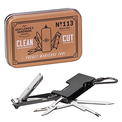 Gentlemens Hardware 4-in-1 Pocket Manicure Multi-Tool Key Chain