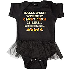 inktastic - Halloween WO Candy Corn Infant Tutu Bodysuit 18 Months Black