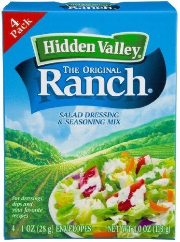 Hidden Valley, Salad Dressing Mix, Original Ranch, 1.0 Ounce (Pack of 4) by Hidden Valley