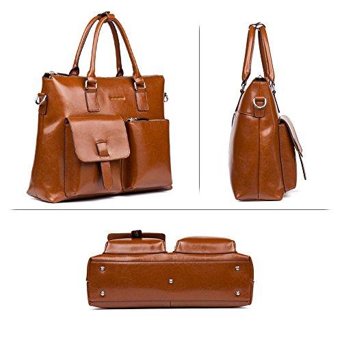 56e0c19636a8 Details about Briefcases Leather Laptop Business Vintage Slim Messenger  Bags For Men & Women