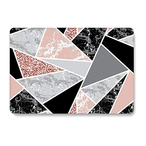 One Micron Compatible MacBook Air 13 Inch Case Plastic Pattern Hard Matte Case Shell Compatible MacBook Air 13.3 Inch (Model: A1369 and A1466)-Black Pink Marble