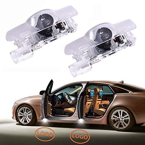 2pcs Fit for Toyota Car Door Welcome Lights Puddle Ghost Shadow Light Led Projector Logo Light Compatible with Runner Avalon Camry Highlander Land Cruiser Sienna Corolla Crown Reiz