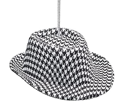1 X Houndstooth Fabric Hat Ornament -Christmas Holiday Ornament Gift - Amazon.com: 1 X Houndstooth Fabric Hat Ornament -Christmas Holiday
