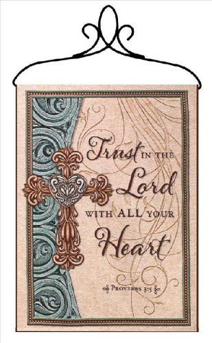 Manual Inspirational Collection Wall Hanging with Verse and Frame, Trust in The Lord, 13 X ()