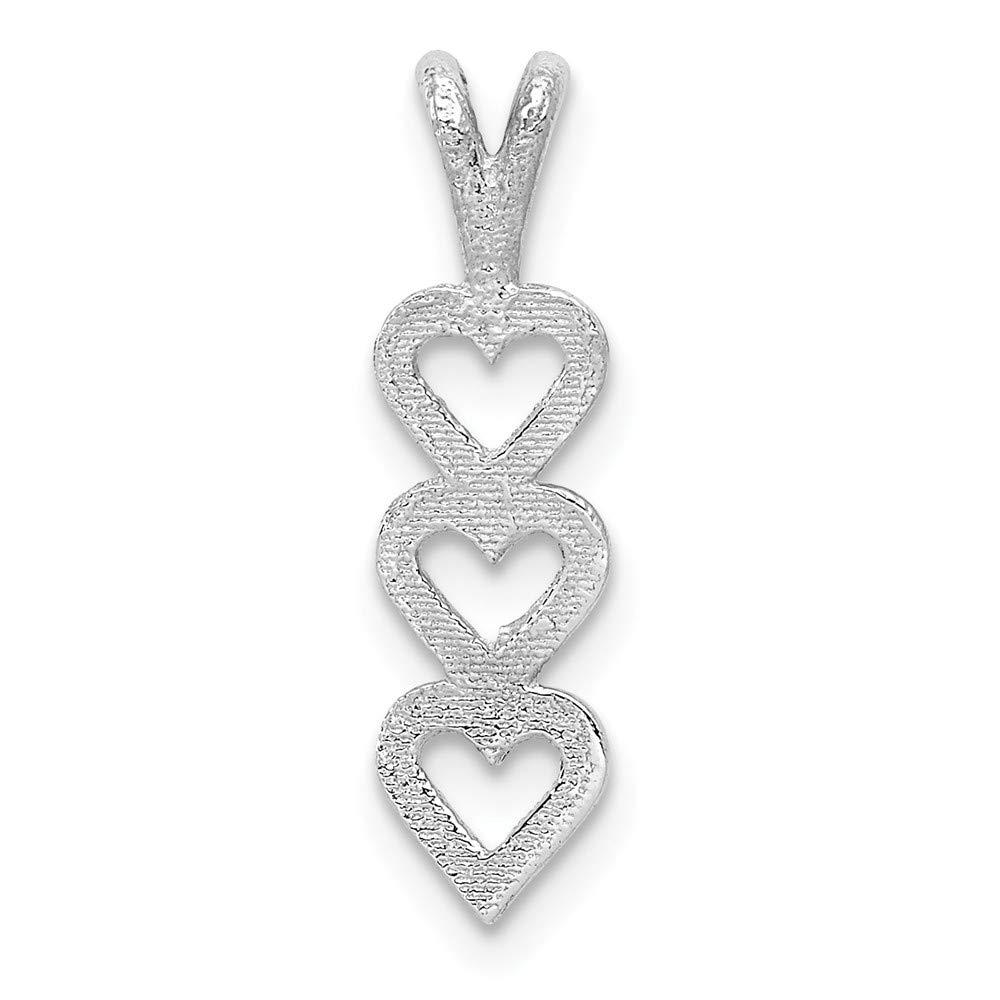 14k Yellow Gold White Gold Triple Heart Pendant