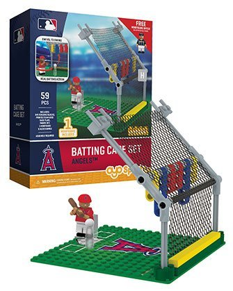 MLB Los Angeles Angels Batting Cage Set with Minifigure, Small, (Home Run Set)