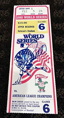 Mike Schmidt Autographed Signed 1980 World Series Ticket Steiner Phillies Mvp Royals - Authentic Memorabilia