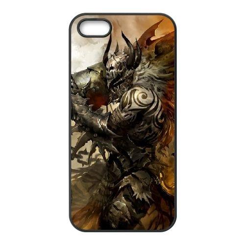 Demon Cannon coque iPhone 5 5S cellulaire cas coque de téléphone cas téléphone cellulaire noir couvercle EOKXLLNCD23162