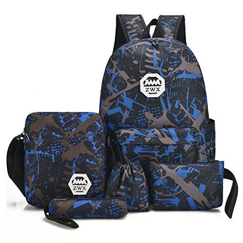 Top Shop Womens Rivet Mini Backpack Travel Daypack Tote bag Blue Shoulder Handbags